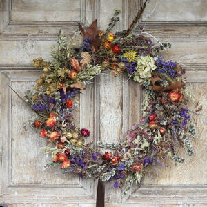 Vintage Country Dried Flower Wreath