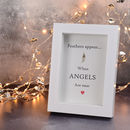 Feathers Appear When Angels Are Near Framed Print