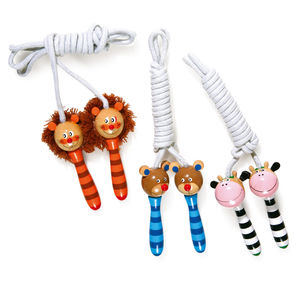 Painted Wooden Animal Skipping Ropes - garden