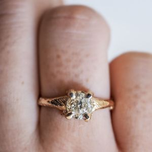 Solid Gold Sparkle In The Wild Two Carat Grey Diamond - engagement rings