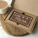 One In A Million Letterbox Millionaire Shortbread Card
