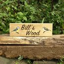 Wooden Sign With Painted Picture