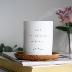 Personalised 'You're Mumbelievable' Scented Candle - gifts for mothers