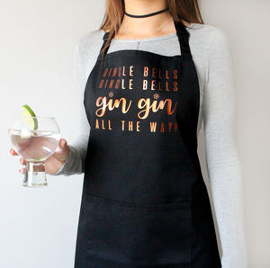 'Gin Gin All The Way' Gingle Bells Apron