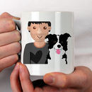Personalised New Dog Dad Gift Mug
