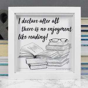 Book Lover Illustrated Literary Quote Print