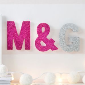 Mini Sparkle Letters - decorative accessories