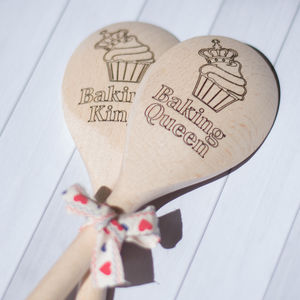 Wooden Spoon Baking King Or Queen - utensils