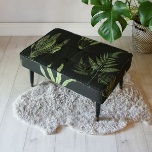 1960s Linen Bench Footstool - sale by category