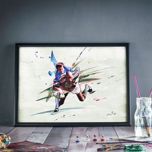 Behind Enemy Lines : Leicester Tigers Print - winter sale