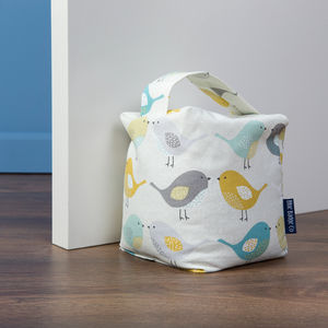 Fabric Door Stop In Garden Birds - door stops & draught excluders