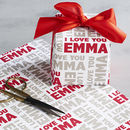 Personalised Valentines I Love You Wrapping Paper