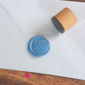 Decorative Heart Monogram Wax Seal Stamp - wax seals