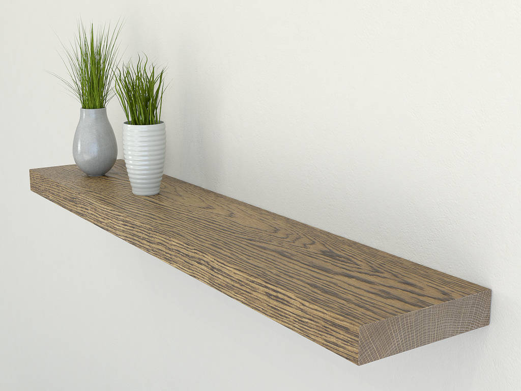 dark solid oak floating shelf by bespoak interiors rh notonthehighstreet com