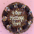 The Personalised Brownie Cake