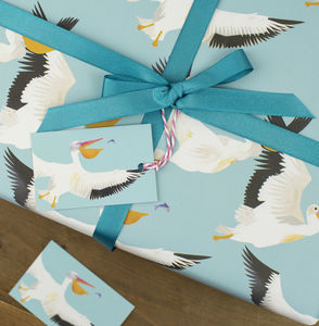 Pelican Party Wrapping Paper - ribbon & wrap