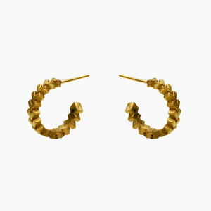 Sync Mini Hoop Earrings - earrings