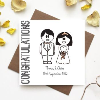 'Congratulations' Wedding Card