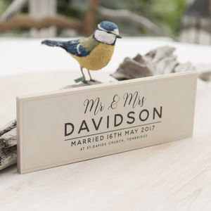 Personalised Wooden Wedding Details Sign - view all anniversary gifts