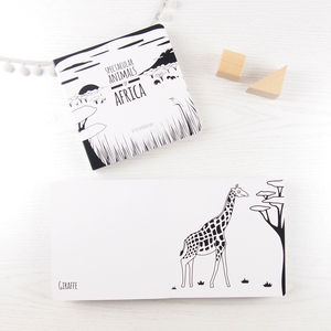 Black And White Baby Board Book Africa