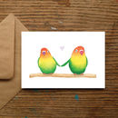 Lovebirds Love Card