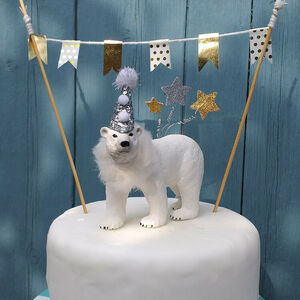 Personalised Party Animal Polar Bear Cake Topper