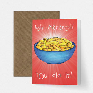 Holy Macaroni Congratulations Card - congratulations cards