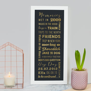 Personalised Memory List Print
