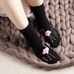 Personalised Flamingos In Love Socks - mother's day gifts