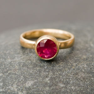 Ruby Engagement Ring - rings