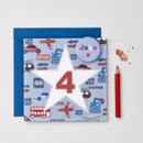Boys Personalised Age Card With Badge