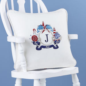 All At Sea Personalised Cushion