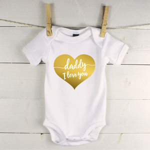 'Daddy I Love You' Babygrow - new in baby & child