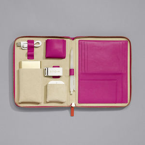 Luxury Leather Travel Tech Case For Her - personalised gifts