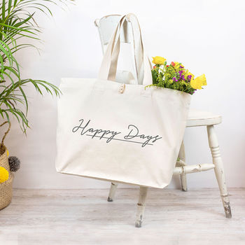 Personalised Organic Canvas Tote Bag