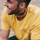 'Wild As The Sea' Embroidered Yellow T Shirt And Bag