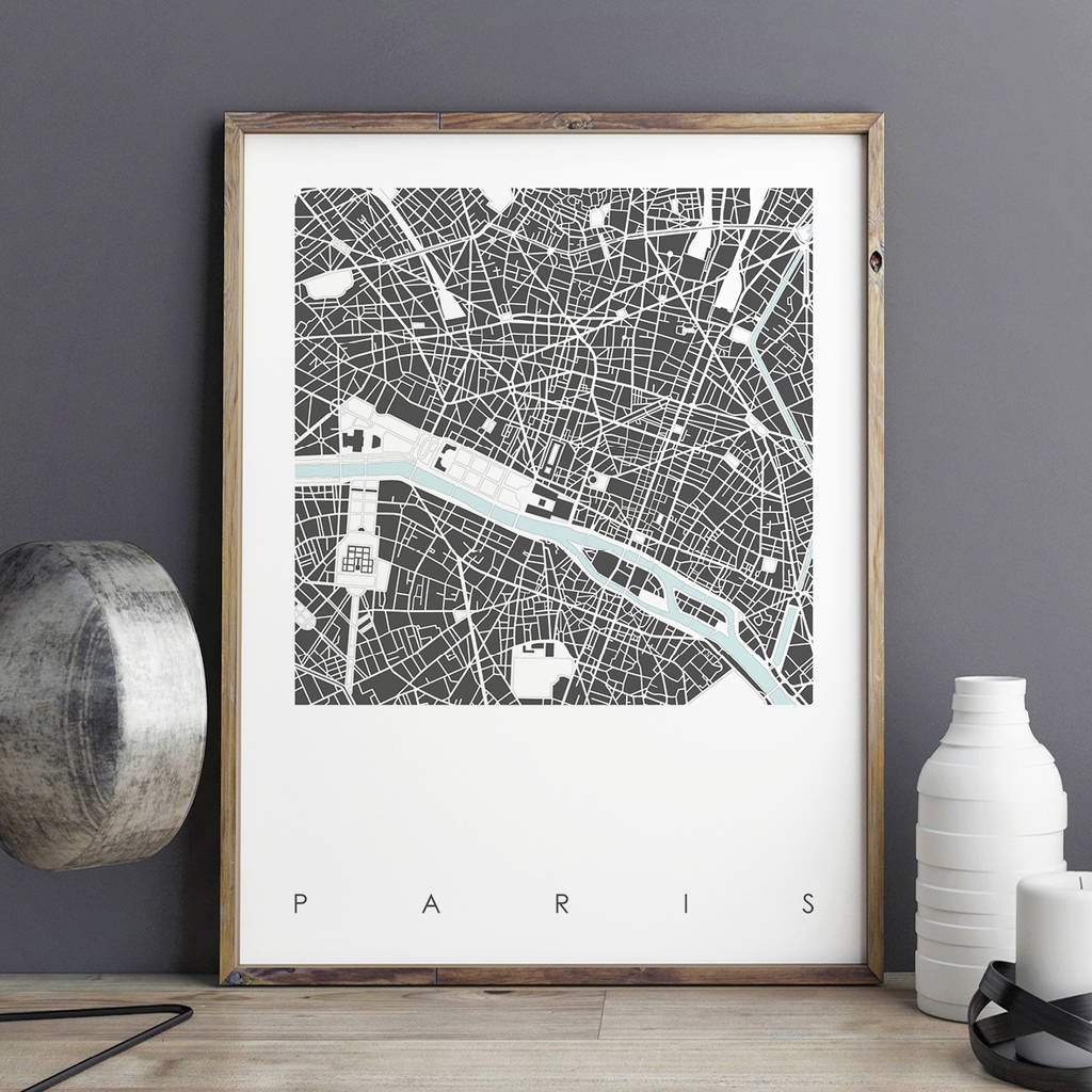 Map Print Of Paris Limtied Edition map