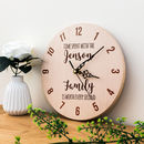 Personalised Time Spent With Family Clock