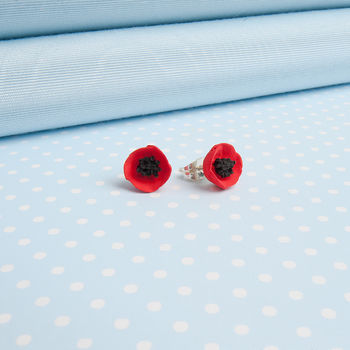 Single Poppy Earrings