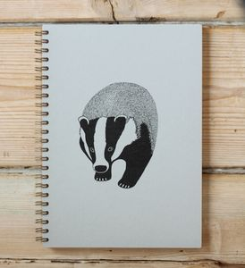 Badger A5 Spiral Bound Notebook - writing