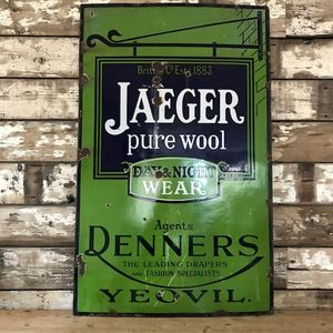 Original Vintage Enamel Sign