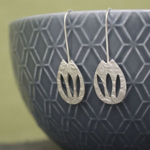 Sterling Silver Watercolour Tulip Earrings