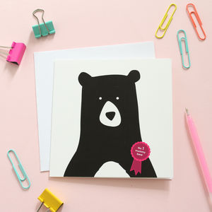 No.One Mummy Bear Card - birthday cards
