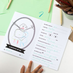 Questionnaire Card With Pencils Set : Fathers Day - father's day cards