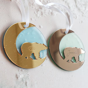 Polar Bear Personalised Christmas Tree Decoration