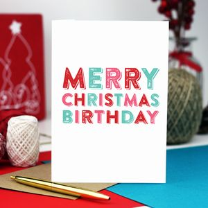 Merry Christmas Birthday Cheeky Greetings Card - winter sale
