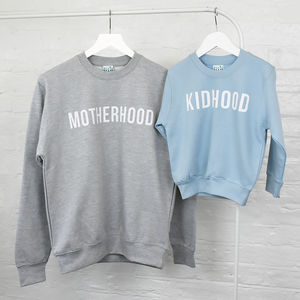 'Mummy And Me' Motherhood Sweashirt Jumper Set - whatsnew