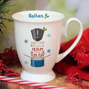 Bone China Little Drummer Boy Personalised Mug