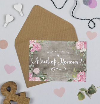 Blooming Barn Will You Be My Maid Of Honour Card