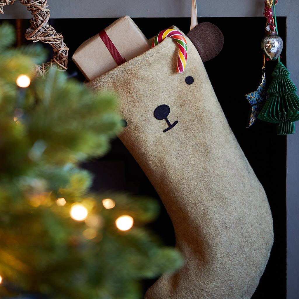 Dress Up Animal Felt Christmas Stocking dress